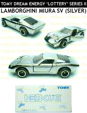 Tomy Tomica Lottery Series Ii L2 07 Silver Lamborghini Miura Sv