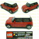 Tomy Tomica Lottery Series X : #L10-01 Mini Cooper Red With White Top