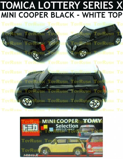 Tomy Tomica Lottery Series X : #L10-13 Mini Cooper Black With White Top
