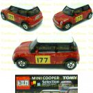 Tomy Tomica Lottery Series X : #L10-02 Mini Cooper Red With 177 Decal