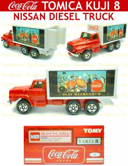 Tomy Tomica Lottery Series VIII : #L8-01 Coca Cola Nissan Diesel Truck