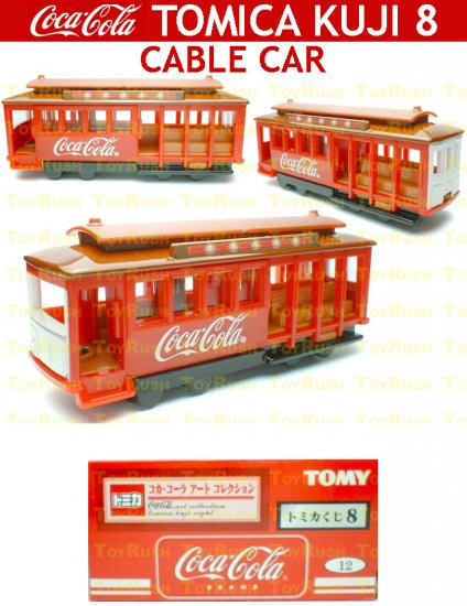 Tomy Tomica Lottery Series VIII : #L8-12 Coca Cola Cable Car (Last Piece)