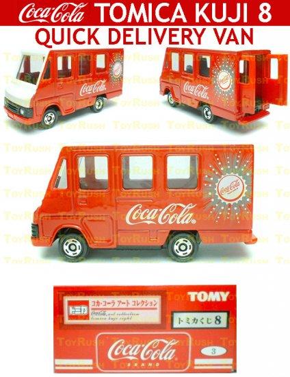 Tomy Tomica Lottery Series VIII : #L8-03 Coca Cola Quick Delivery Van