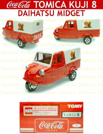 Tomy Tomica Lottery Series VIII : #L8-07 Coca Cola Daihatsu Midget
