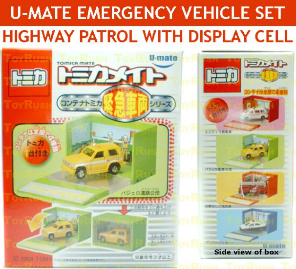U-Mate Tomica DieCast Highway Patrol with Display Cell