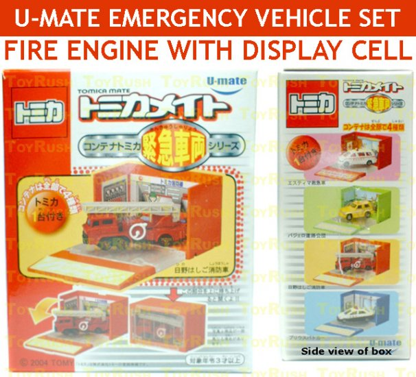 U-Mate Tomica DieCast Fire Engine with Display Cell