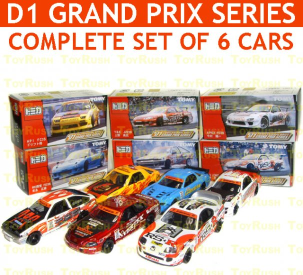 Tomy Tomica Limited Edition Complete Set : D1 Professional Drift Grand Prix Series