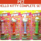 Hello Kitty PEZ Dispensers Complete Set of 4 : RELEASED FOR ASIA ONLY