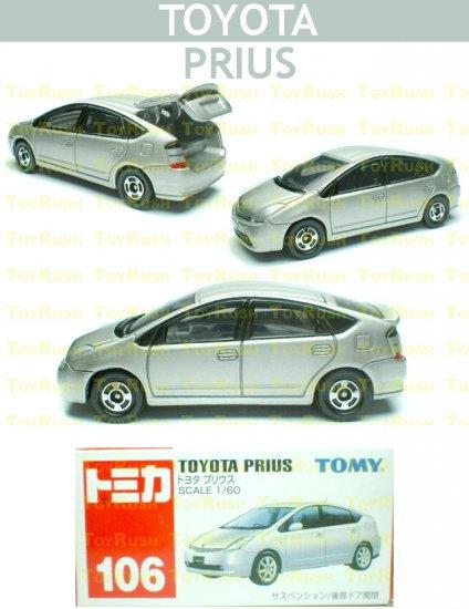 Tomy Tomica Diecast : #106 Toyota Prius Hybrid (Silver)