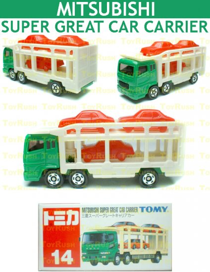 Tomy Tomica Diecast : #14 Mitsubishi Super Great Car Carrier