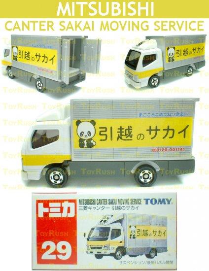 Tomy Tomica Diecast : #29 Mitsubishi Canter Sakai Moving Service