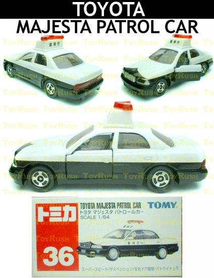 Tomy Tomica Diecast : #36 Toyota Majesta Patrol Car (Old Edition)