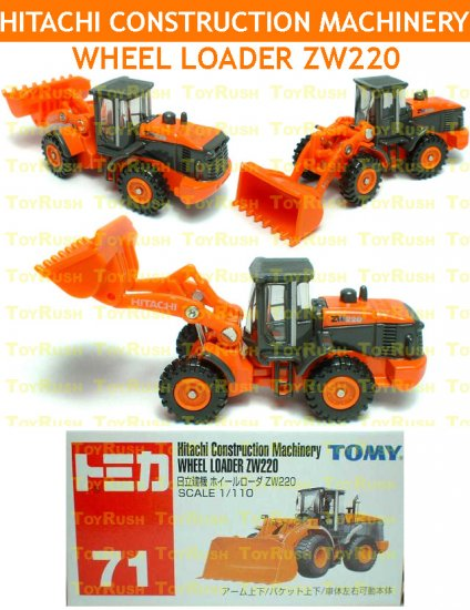 Tomy Tomica Diecast : #71 Hitachi Construction Machinery Wheel Loader ZW220