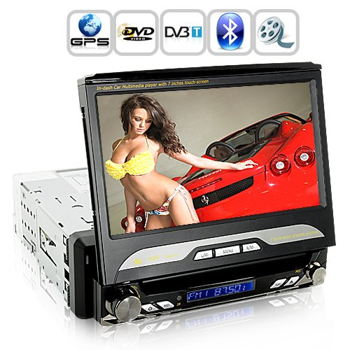 King Viper in Dash Car DVD - 1 DIN GPS Swivel Detach HD Screen DVB-T [GC135087]