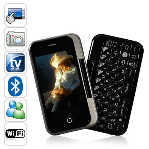 Gunslinger China Cell Phone with Keyboard and Swivel Touchscreen [GC135093]