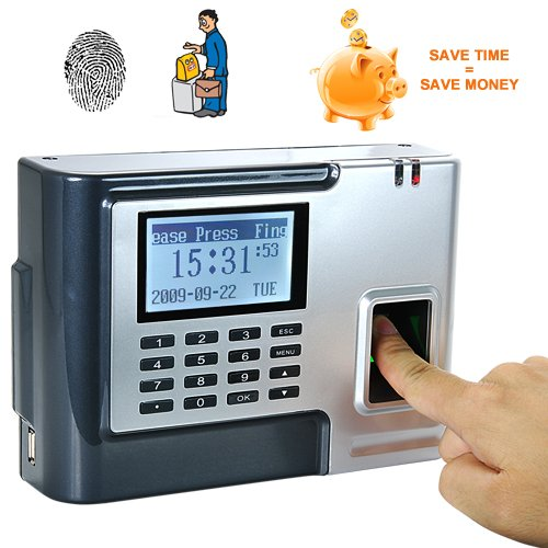 Fingerprint Time Attendance and Door System - Silver [GC135096]
