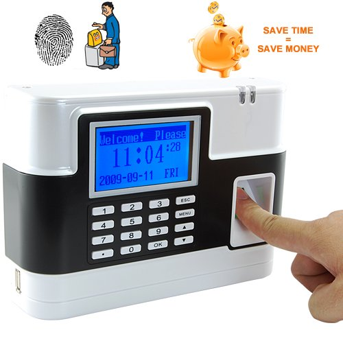 Fingerprint Time Attendance and Door System - White [GC135098]