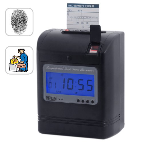Attendance Time Card Recorder with Fingerprint Verification [GC135100]