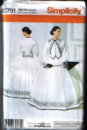Simplicity 3791 Misses Costume Sewing Pattern  Hoopskirt and Top Size 8 10 12 14 Uncut