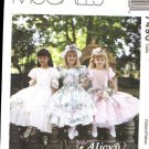 Mccalls 7490 Girls Ruffled dress size 8  uncut