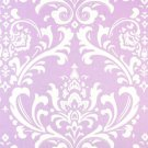 Premier Prints Osborne one yard LILAC DAMASK Fabric by the yard Lilac Lavender and White osbourne