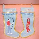 Vintage Christmas Stockings 1960s? FREE SHIPPING!!!