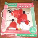 Vintage Paramount Christmas Bell Lights w Box FREE SHIPPING!!!