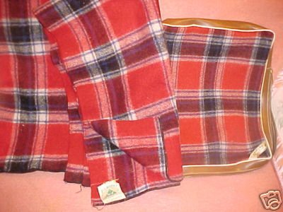 Vintage Plaid Faribo Throw with Original Bag FREE SHIPPING!!!