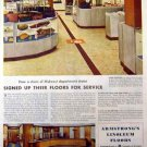 Armstrong Linoleum 1942 Ad - Floors for Service