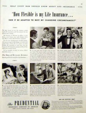 Prudential Life Insurance 1942 Ad - Flexible Life