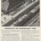 American Railroads 1946 Ad - Headquarters for Transportation