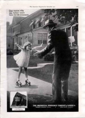 1931 Prudential Insurance Ad- Father & Daughter