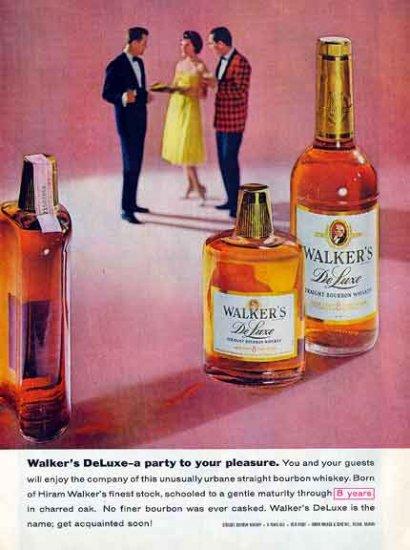 WALKER's BOURBON 1959 Ad - Party to Your Pleasure