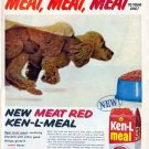 KEN-L MEAL 1959 Dog Food AD - Spaniel