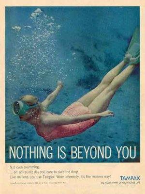 TAMPAX 1959 AD - Nothing is Beyond YOU