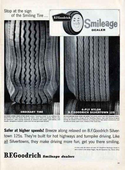 GOODRICH TIRES 1959 Ad - Smileage