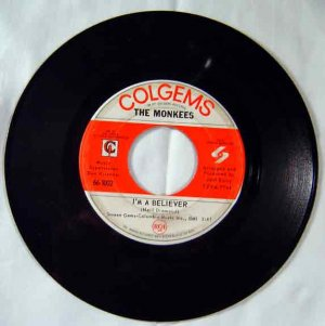The Monkees - 1966 I'm a Believer -45 Single