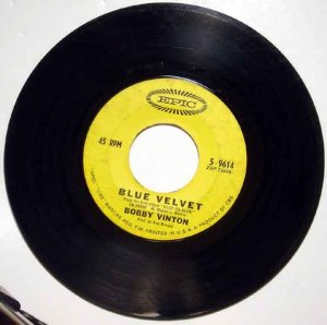 Bobby Vinton BLUE VELVET 1963 Epic 45 RPM