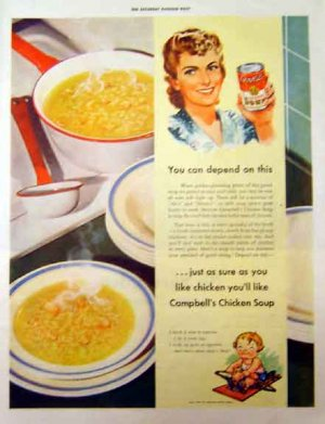 Campbell's Chicken Soup 1942 - Depend on This