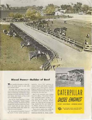 1946 Caterpillar Diesel Engines AD -  Builder of Beef