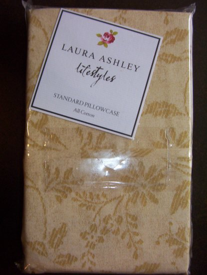 LAURA ASHLEY lifestyles LUXURY PILLOWCASE (2pc) New $50 - You Pay Only $24.99 - FREE SHIPPING