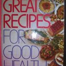 Reader's Digest GREAT RECIPES For Good Health - FREE SHIPPING