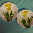 WestWood IRONSTONE-Two Beautiful Vintage Tulip Cereal, Vegetable Bowls-FREE SHIPPING
