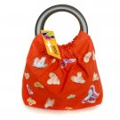 Dainty Pretty Red Silk Butterfly Embroidery Handbag