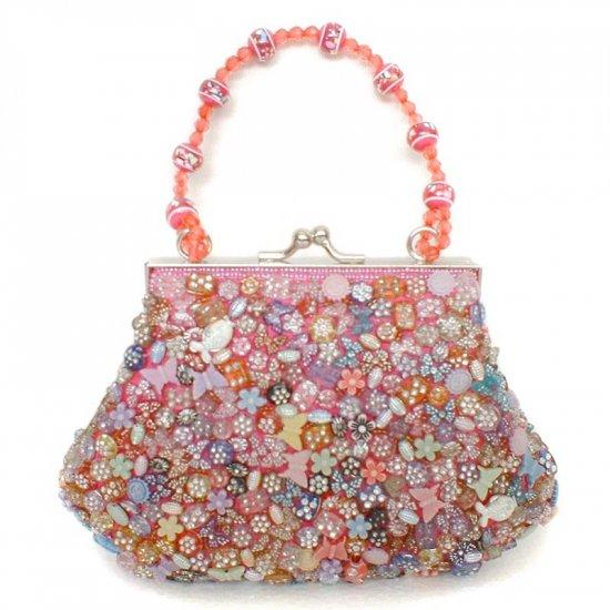 Pink Beaded Evening Bag