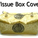 Champaign Gold Silk Brocade Tissue Box Cover