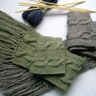 Amazing pair grey and green long scarves