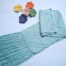 Hand-knitted blue  scarfThe best gift for mother
