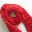 Hand-knitted beautiful red  long scarf