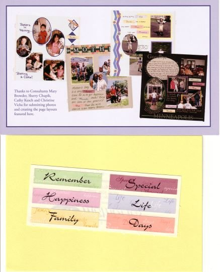 """Creative Memories """"Thanks To You"""" Titles Page Kit"""